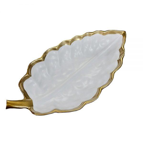 Platou ceramica Tropical Leaf 38x20cm