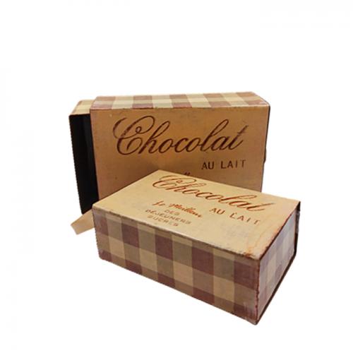 Set 2 Cutii metal Chocolat vintage