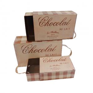 Set 3 Cutii metal Chocolat vintage