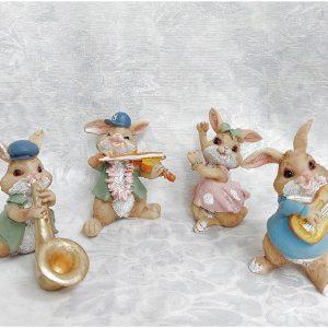 Set 4 Iepurasi Talented Bunny 7cm rasina