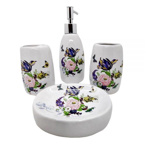 Set de baie Flowers ceramica