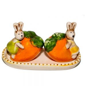 Solnita sare piper Easter Carrot ceramica
