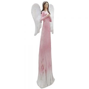 Statueta inger Harmony roz rasina 27cm