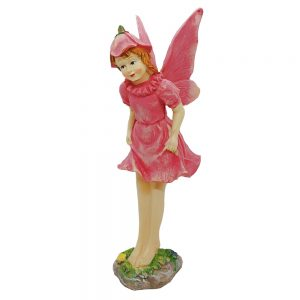 Statueta inger roz Fairy Angel 26cm rasina