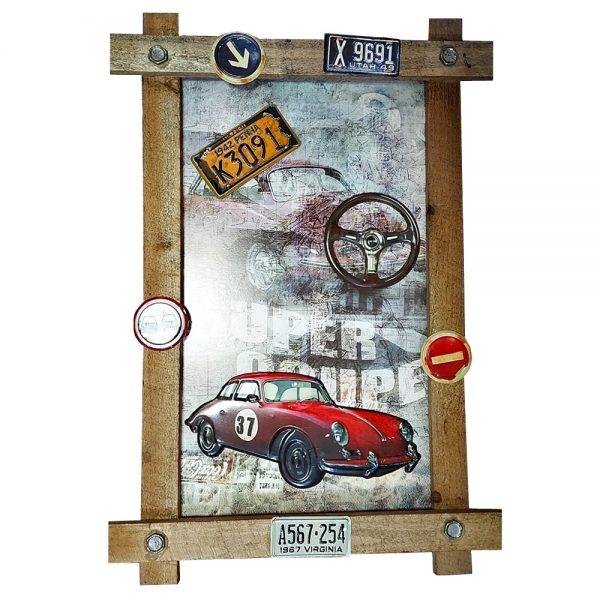 Tablou 3D lemn Vintage Car 40x59cm