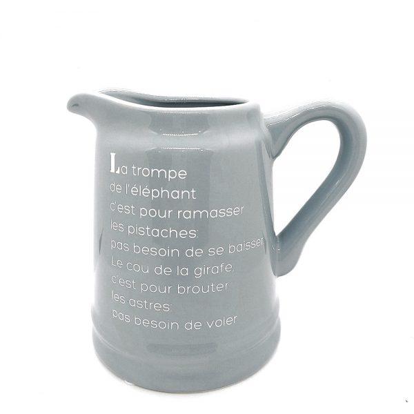 Carafa ceramica Grey Maisy 20cm