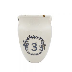Vaza ceramica Francis crem 20cm, Amfora vintage