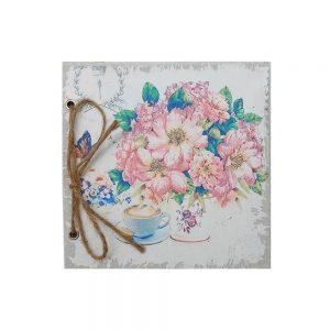 Agenda jurnal retro Shabby Flowers 17x17cm