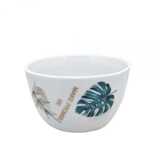 Bol pentru salata Leaf ceramica 14cm