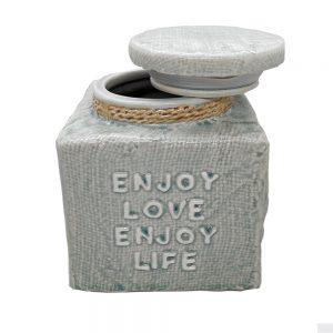 Borcan ceramica Enjoy 14.5x17cm