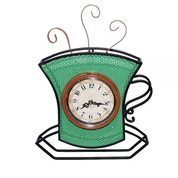 Ceas perete Coffee Cup 33x48cm, Metal, Vintage