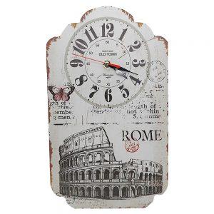 Ceas perete Ciao Roma lemn Vintage