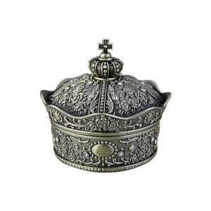Cutie bijuterii coroana vintage Queen 6x6cm