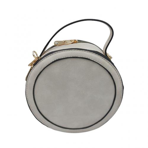 Geanta crossbody rotunda Grey Sally 20x20x8cm