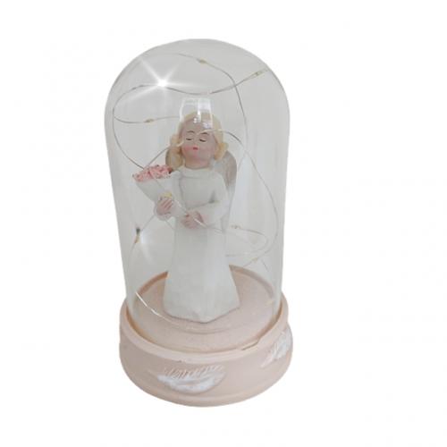 Glob sticla cu statueta Delia 14cm, Cu leduri