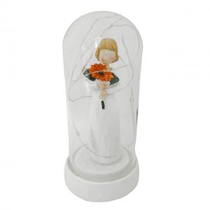 Glob sticla cu statueta si leduri Celeste 14cm