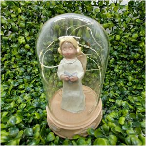 Glob sticla cu statueta si leduri Delia 14cm