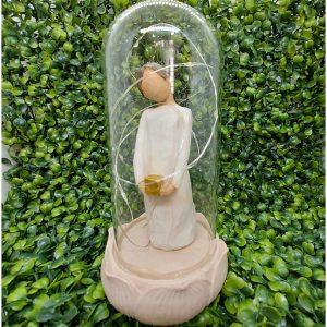 Glob sticla cu statueta si leduri Eden 20cm
