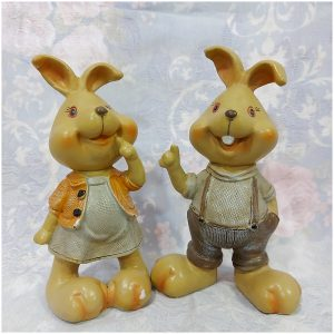 Iepuri ceramica Easter Couple 14cm