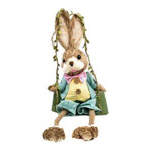 Iepure decorativ in leagan Thumper Bunny 30cm