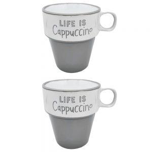 Set 2 cesti Life Is Cappuccino