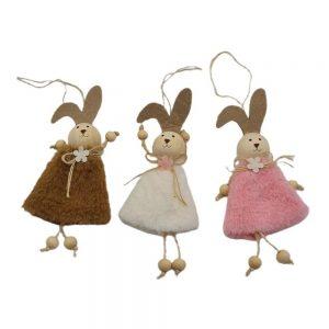 Set 3 Iepurasi Bunny Girls 17cm