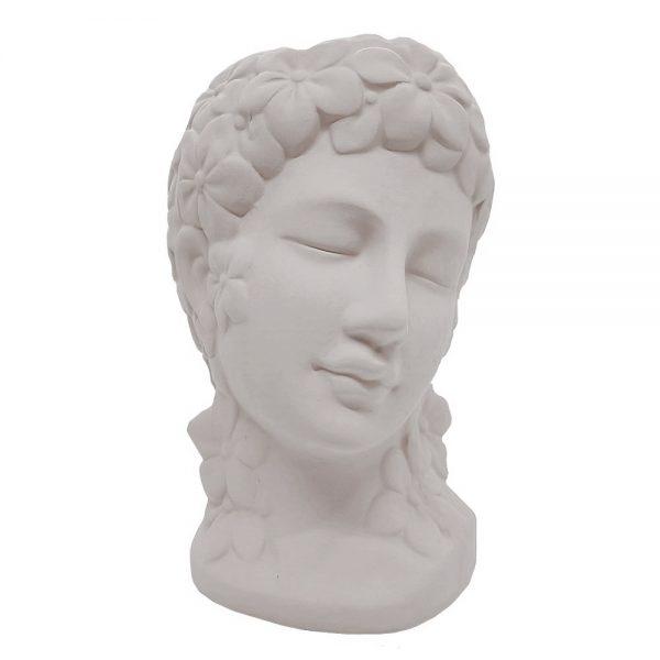 Vaza ceramica Aphrodite alba, Statueta 24cm
