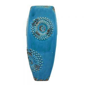 Vaza ceramica Bellamy albastra 36cm Vintage