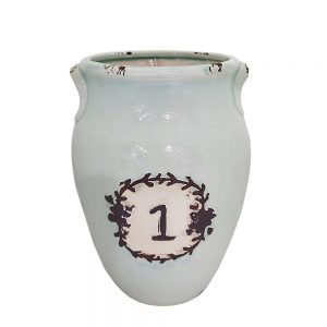 Vaza ceramica Francis bleu 26cm Amfora Vintage