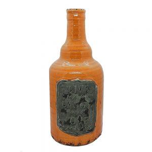 Vaza ceramica Philippe 30cm, Portocaliu, Vintage