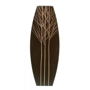 Vaza lemn Tree Touch 50cm, Maro, Vintage