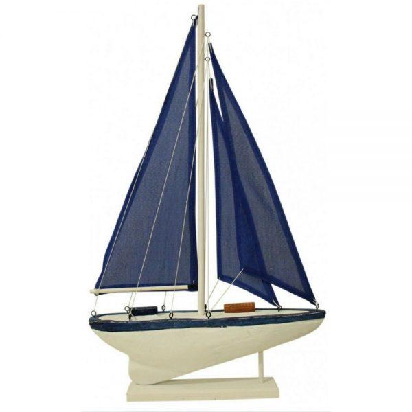 Barca decorativa cu panze Bartolomeo lemn 15x27cm