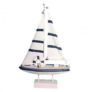 Barca decorativa cu panze Francis lemn
