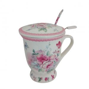 Cana portelan Berenice trandafiri, Set pentru ceai