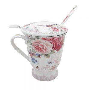 Cana portelan Geraldine trandafiri, Set pentru ceai