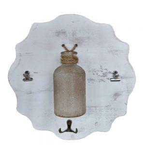 Cuier alb cu vas sticla Amelie 29cm