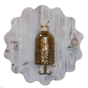 Cuier natur cu vas sticla Amelie 29cm