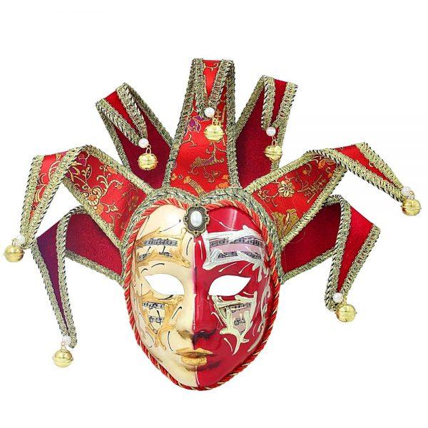 Masca venetiana decorativa Red Jester