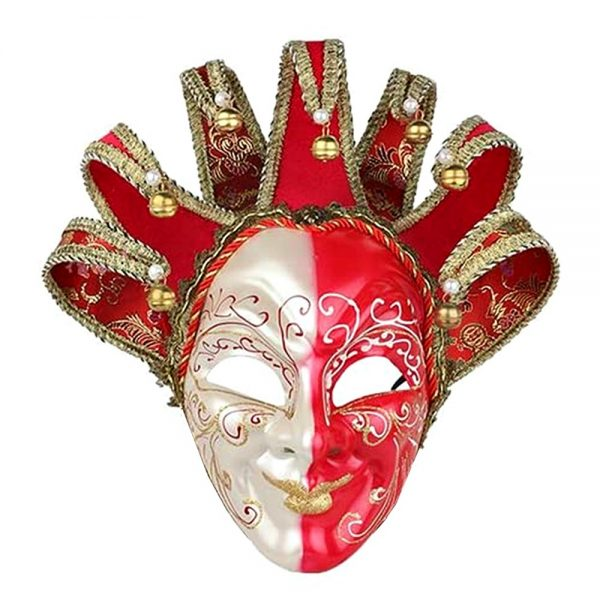Masca venetiana decorativa Red Joker