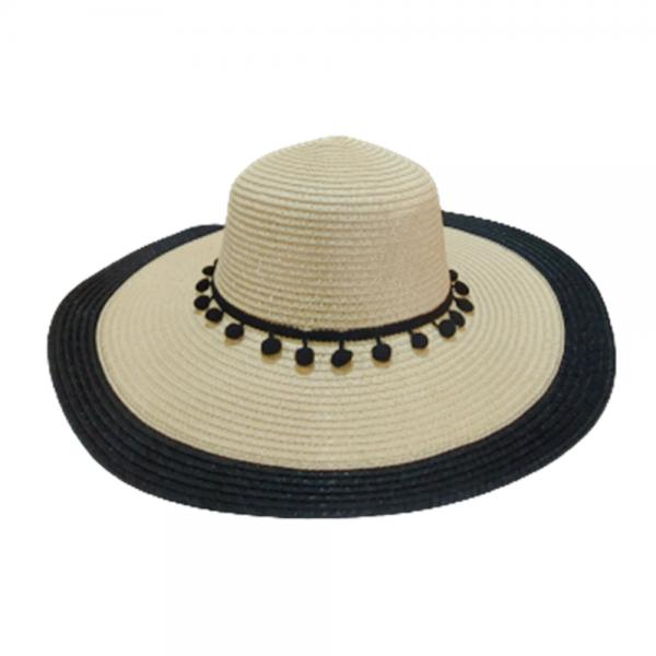 Palarie plaja dama Chic Hat crem