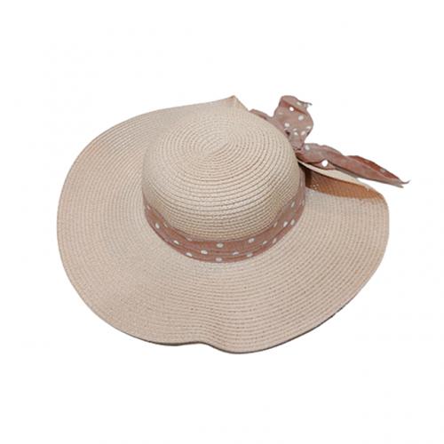 Palarie plaja dama Summer Dots roz