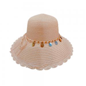 Palarie plaja dama Summer roz 58cm