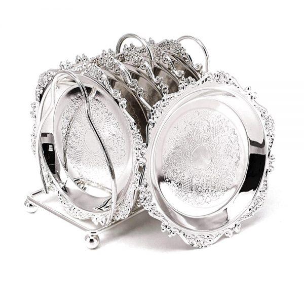 Set 6 farfurioare Silver Rebecca argintate