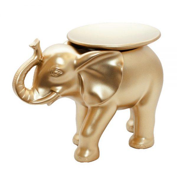 Statueta elefant auriu Dumbo cu platou fructiera