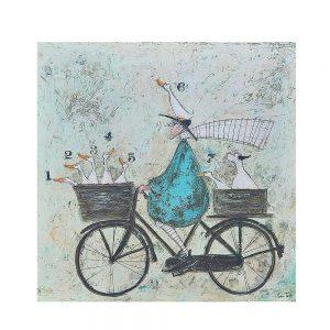 Tablou cu bicicleta Mother Goose 70x70cm