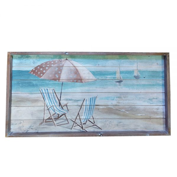 Tablou lemn Summer Flash 78x40cm