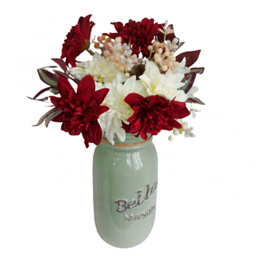 Aranjament flori artificiale Burgundy Bethany
