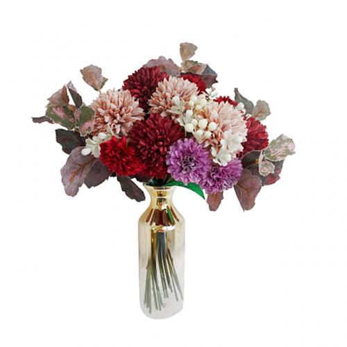 Aranjament flori artificiale Burgundy Natalie