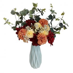 Aranjament flori artificiale Orange Natalie 45cm