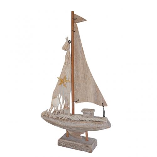Barca decorativa cu panze Grant lemn
